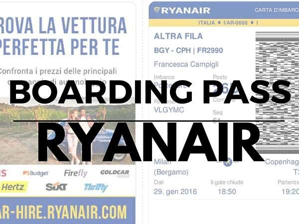 stampare carta d'imbarco Ryanair