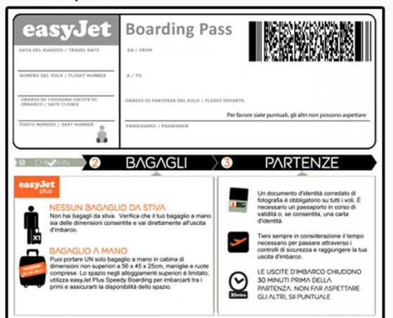 stampare carta imbarco easyjet