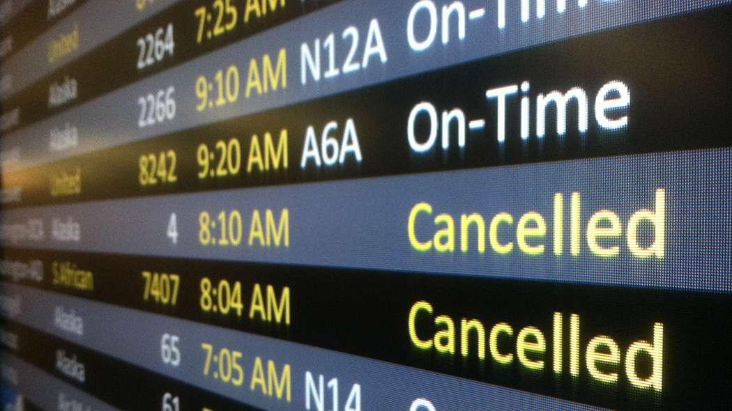 Compensazione pecuniaria volo cancellato