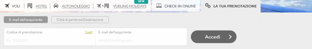 come si fa checkin online vueling