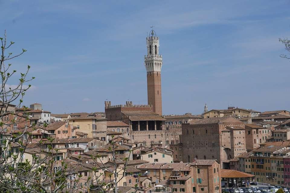 siena vista dall'alto del centro storico