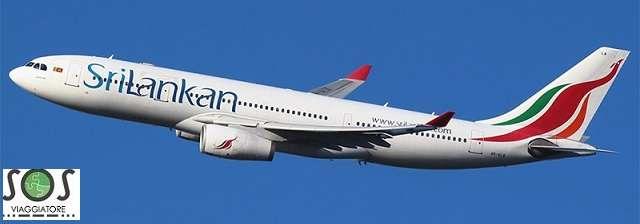 Rimborso cancellazione volo Srilankan Airlines