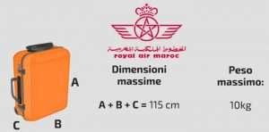 Bagaglio a mano Royal Air Maroc