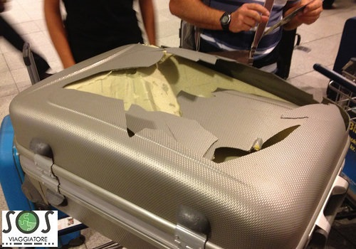bagaglio danneggiato cosa fare