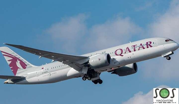 Aereo Qatar Airways riborso del bilgietto per motivi di salute con Qatar Airways
