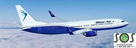 Rimborso del biglietto aereo per volo in ritardo con la Blue Air