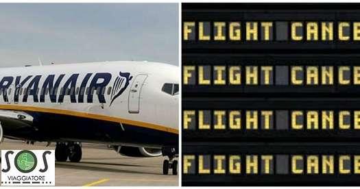 Rimborso del volo a seguito dello sciopero Ryanair