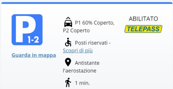 Aeroporto di Bologna: Parcheggio 1