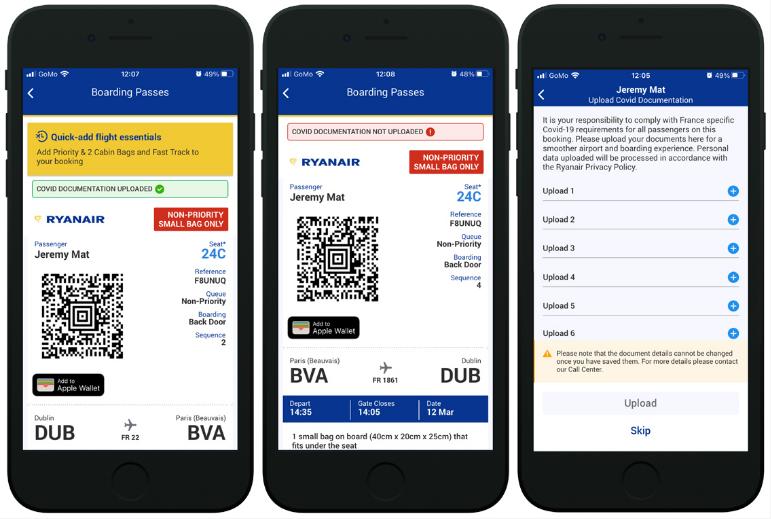 Covid 19 Travel Wallet di Ryanair