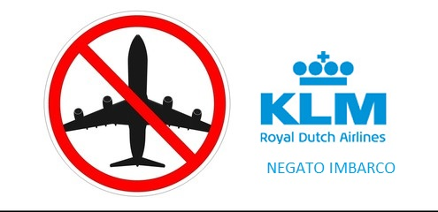 Negato imbarco KLM